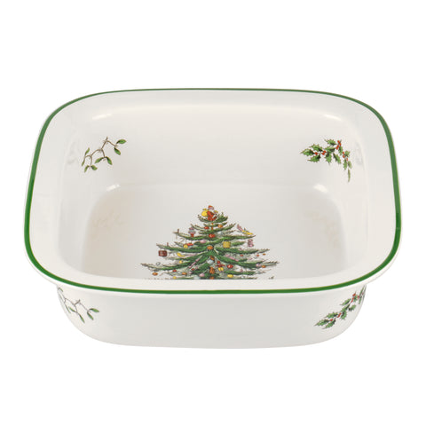 Spode Christmas Tree Square Rim Dish