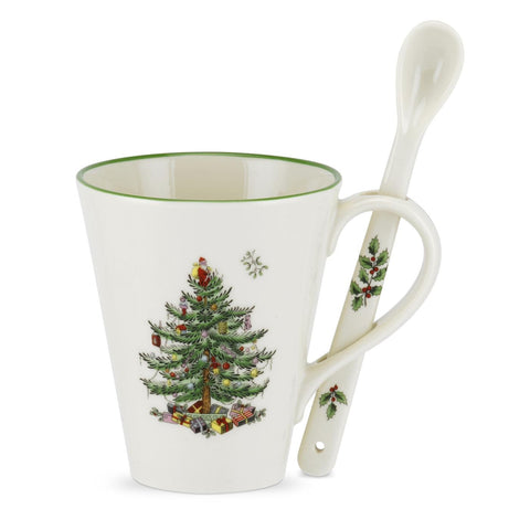 Spode Christmas Tree Mug & Spoon Set