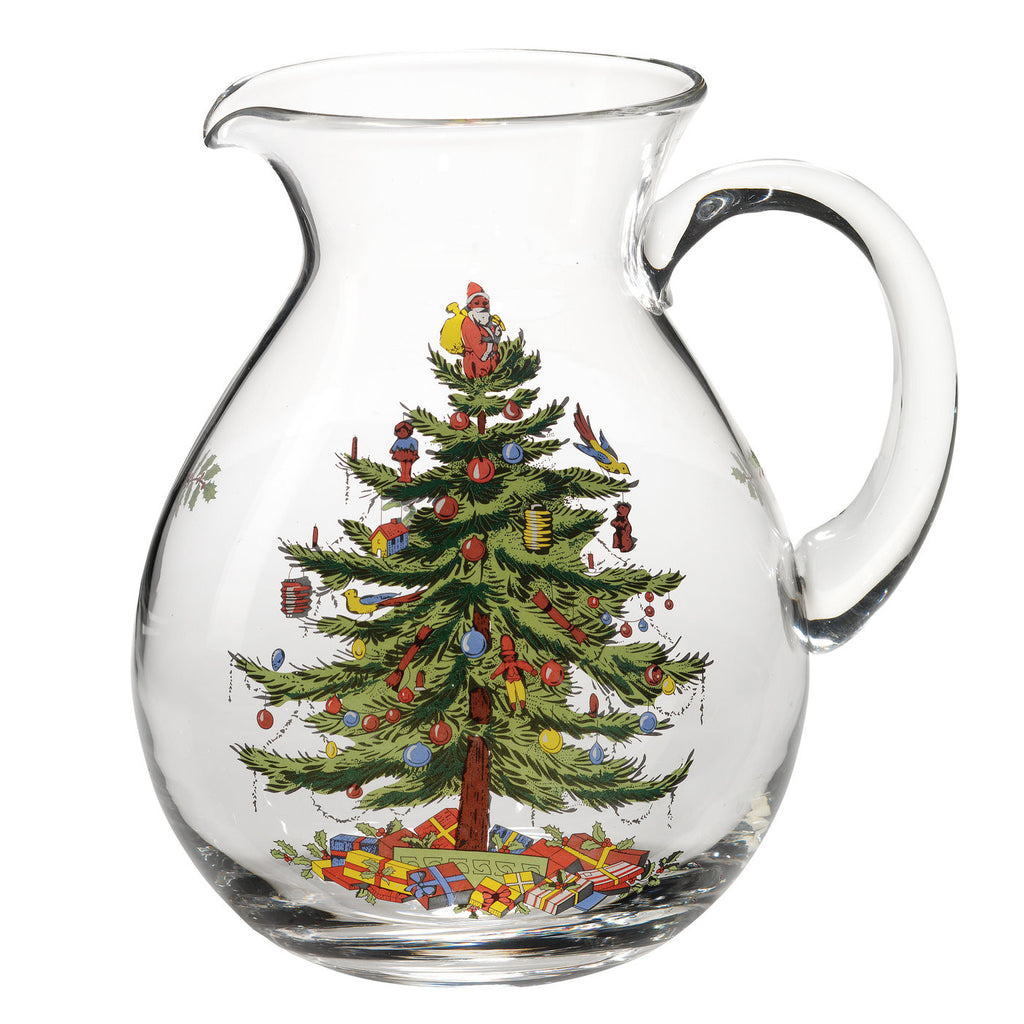 Spode Christmas Tree Glass Pitcher / Jug