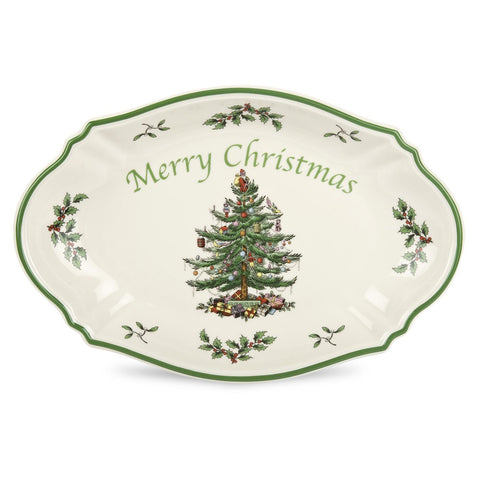 Spode Christmas Tree - Serving Platter - Merry Christmas