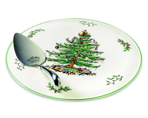 Spode Christmas Tree - Cake Plate / Platter & Server