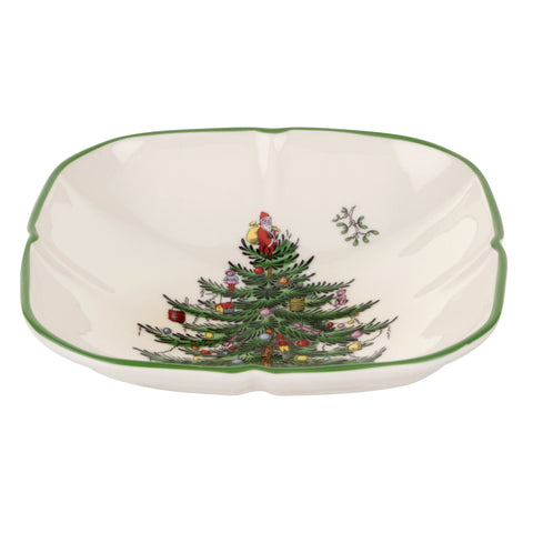 Spode Christmas Tree Square Sculpted Dish