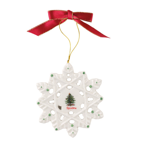 Spode Christmas Tree Snowflake Decoration