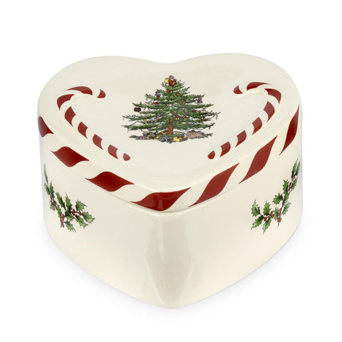 Spode Christmas Tree Lidded Peppermint Heart Box