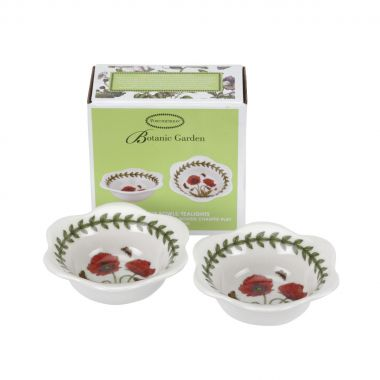 Botanic Garden Dip Bowl / Tealight Holder Box Set of 2 - Poppy