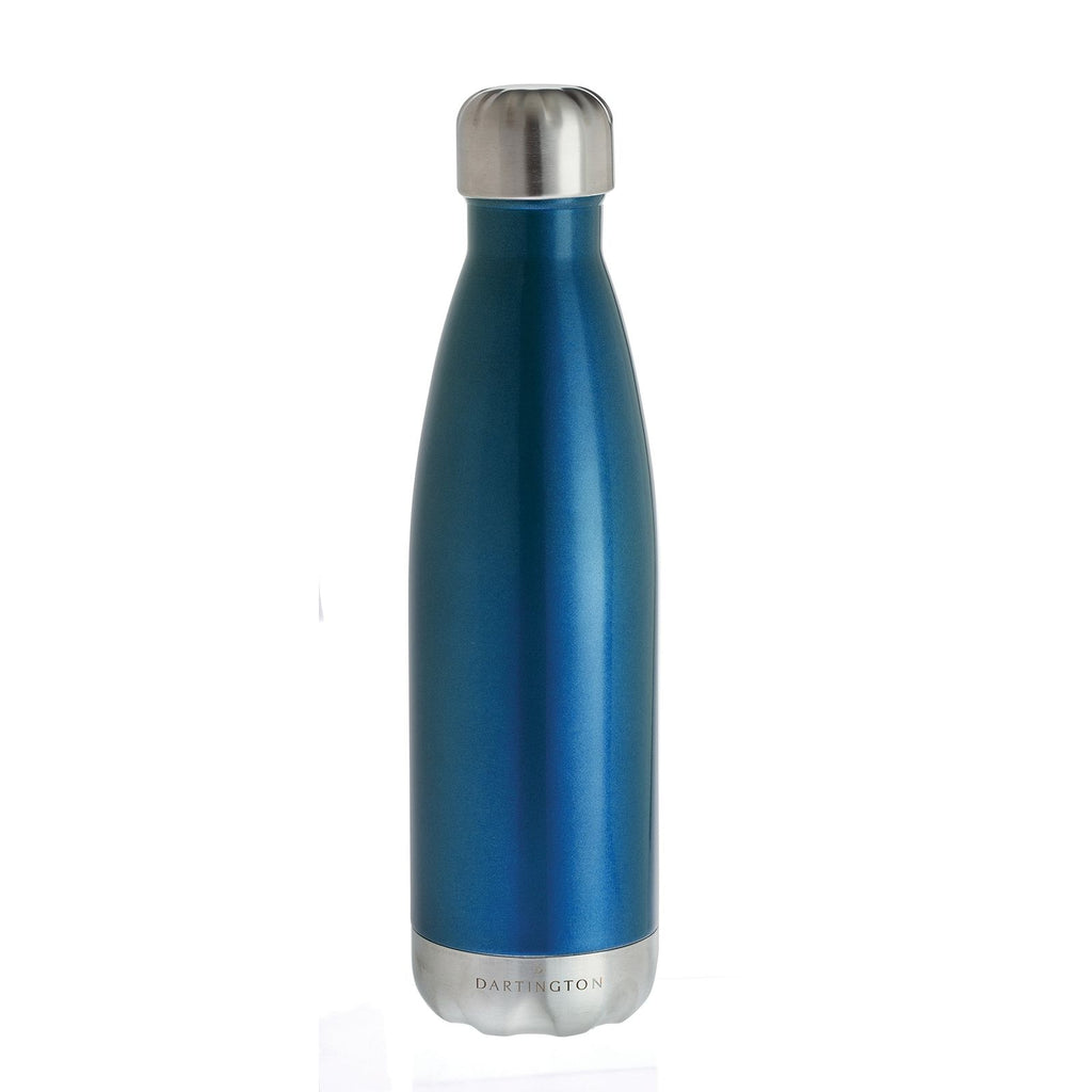 Dartington Crystal Water Bottle Blue
