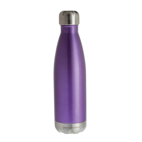 Dartington Crystal Water Bottle Violet