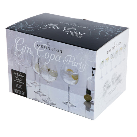 Dartington Crystal Gin Copa Glasses Party Pack ( Box Set of 6 )