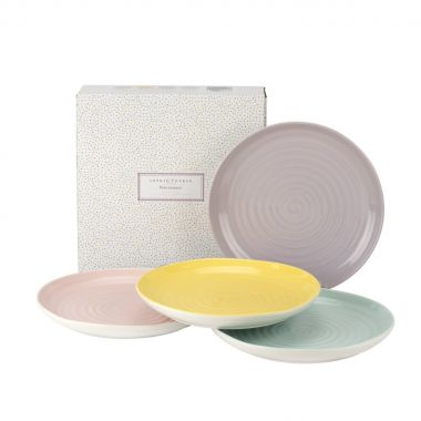 "Sophie Conran Colour Pop Coupe Shape Salad Plates  22cm / 8.5"" Box set of 4"