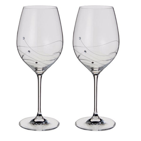 Dartington Crystal Glitz Wine Glass Set of 2