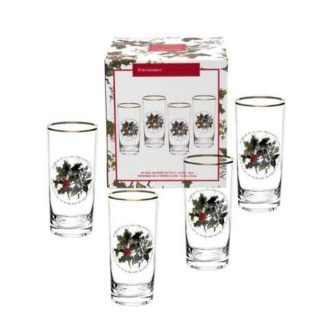 The Holly & the Ivy Hi-ball Glass  ( Gift Box Set of 4 )