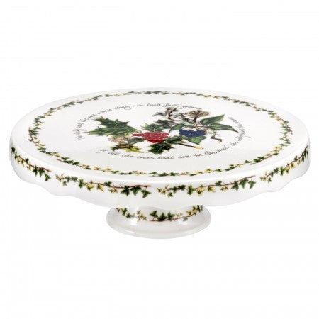 The Holly & the Ivy Scalloped Footed Cake Stand