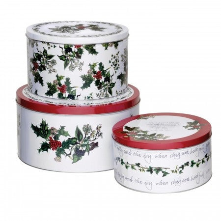 The Holly & the Ivy - Set of 3 Cake Tins