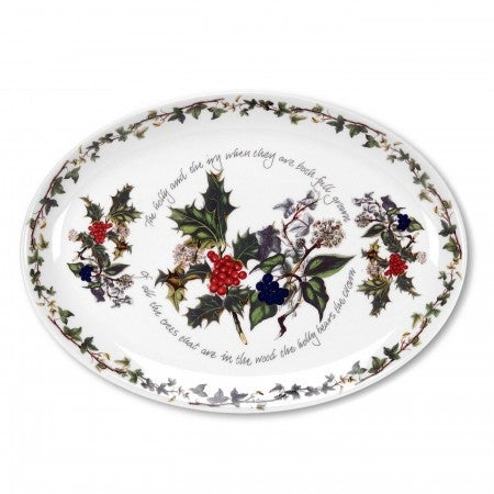 The Holly & the Ivy Oval Platter 33cm / 13""
