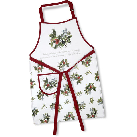 The Holly & the Ivy Cotton Apron