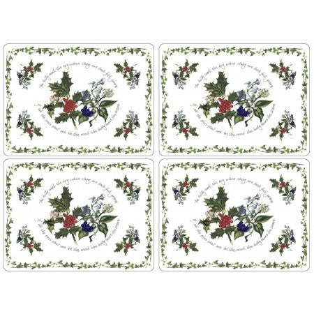 The Holly & The Ivy Placemats S/4 (s)
