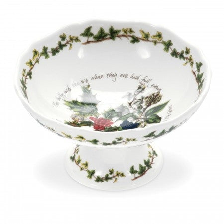 The Holly & the Ivy Scalloped Footed Dish