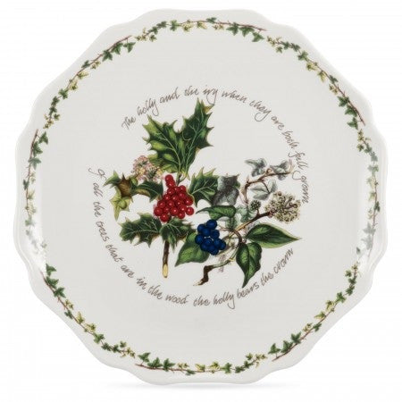 The Holly & the Ivy Scalloped Platter