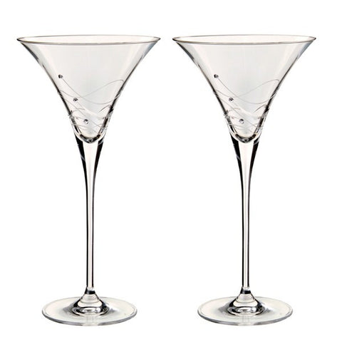 Dartington Crystal Glitz Martini Glass Set of 2
