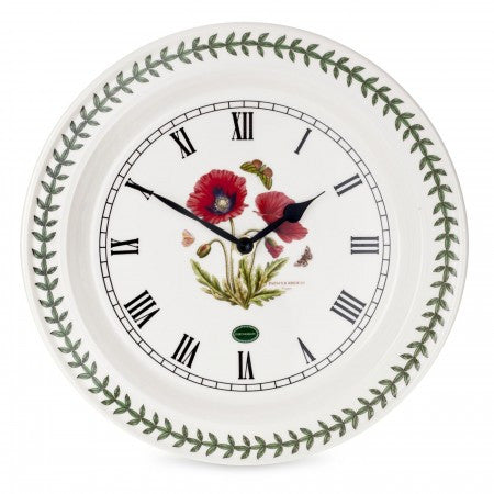 Botanic Garden Wall Clock - Poppy