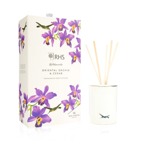 Wax Lyrical RHS Ceramic Reed Diffuser Oriental Orchid & Cedar