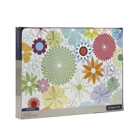 Crazy Daisy Placemats ( Box Set of 6 )
