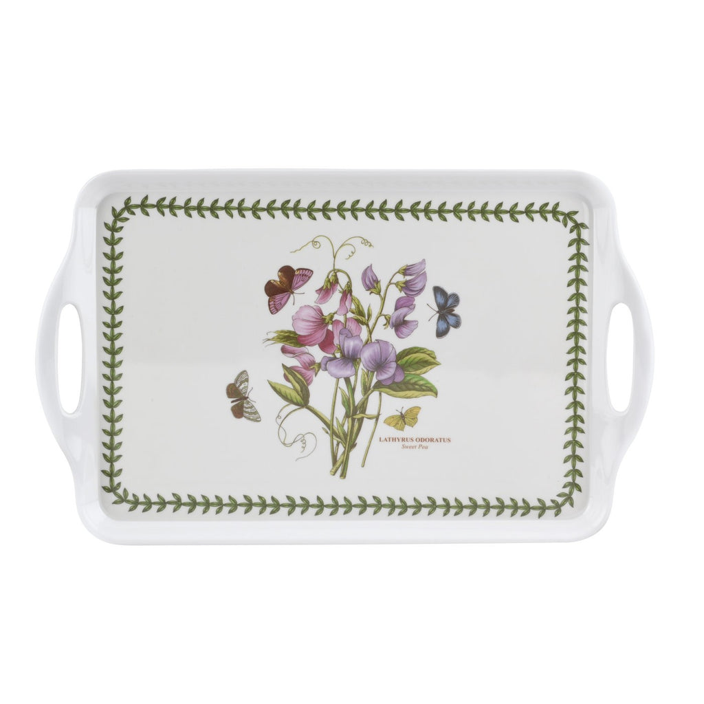 Botanic Garden Medium Handled Tray - Sweet Pea