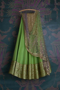 SHINY GREEN COLOR DESIGNER LEHENGA CHOLI WS-106