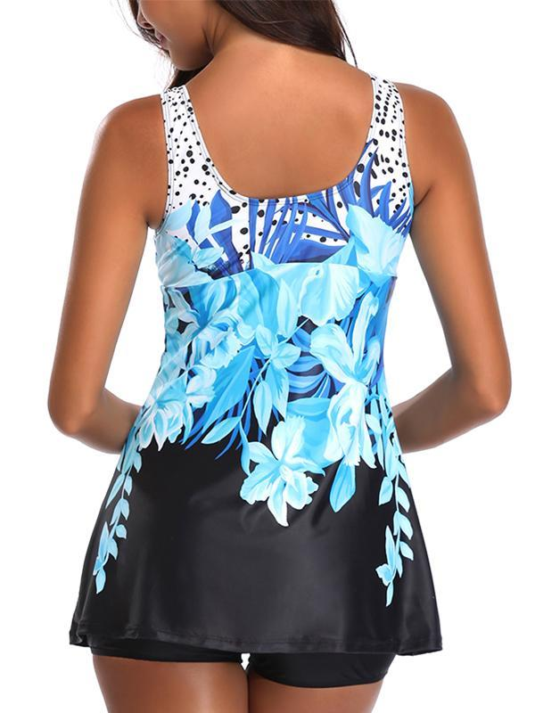 Two Piece Sexy Women Fashiong Printed Beach Tankini Swimwear