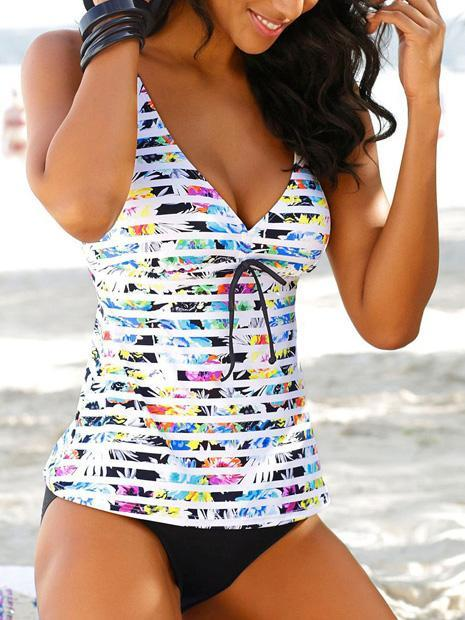 Women Split Swimsuit Printed Tankini