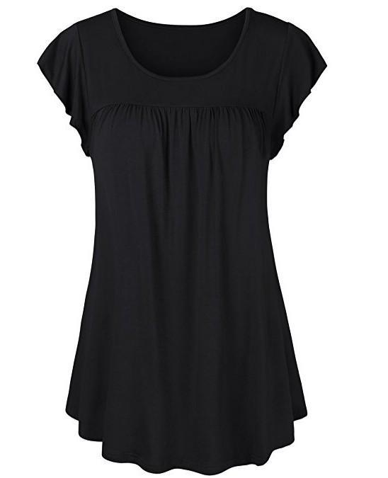 Fashion Short Sleeve OT-shirts Round-neck Short Sleeve Tops