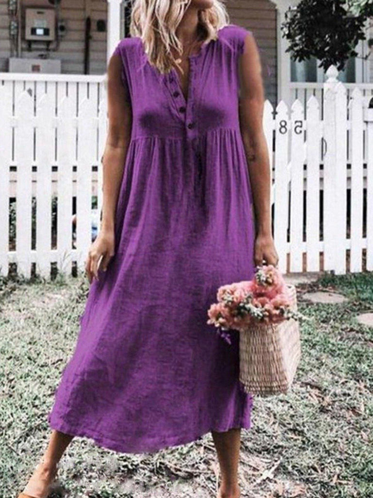 Women's Sleeveless Dress Midi Dress Long Dress S - XXXXL