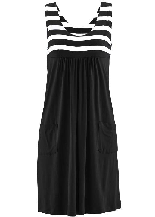 Women Plus Size Chic Sleeveless Summer Short Loose Dress With Pockets