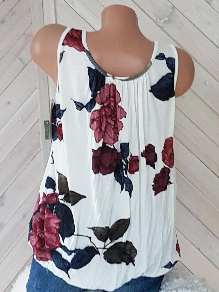 Plus Size Women  Blouse Casual Loose Floral Printed Tops