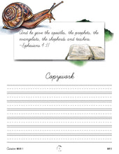 Load image into Gallery viewer, Creepy Crawlies Cursive Writing Notebook (Digital)