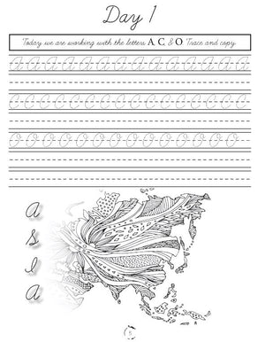 Asia Cursive Writing Notebook (DIGITAL)