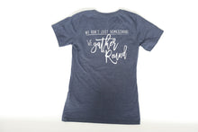 Load image into Gallery viewer, Gather 'Round Ladies V-Neck T-Shirt (NAVY)