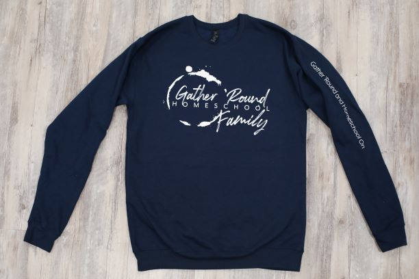 Gather 'Round Sweatshirt in Navy Blue