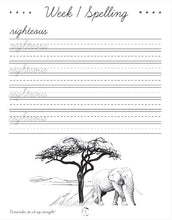 Load image into Gallery viewer, Africa Cursive Writing Book (DIGITAL)