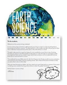 Earth Science Cursive Writing Notebook (HARD COPY)
