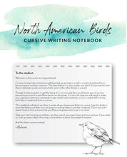 Load image into Gallery viewer, North American Birds Cursive Writing Notebook (Digital)
