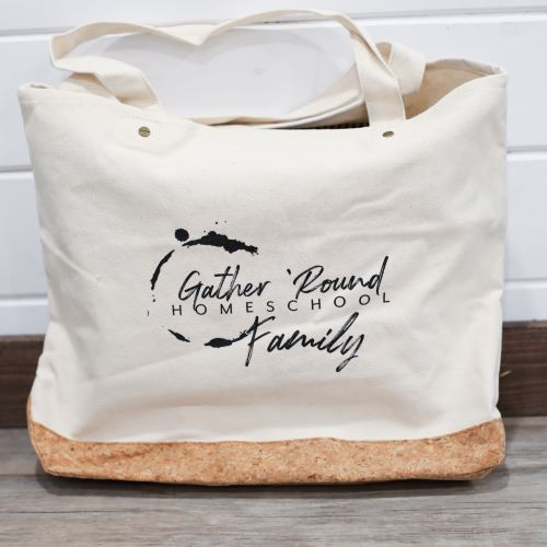 Gather 'Round Cotton Tote in Natural