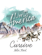 Load image into Gallery viewer, North America Cursive Writing Book (DIGITAL)