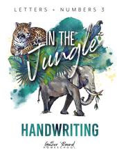 Load image into Gallery viewer, Letters and Numbers: In The Jungle Handwriting Pack (HARD COPY)