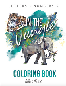 Letters and Numbers: In The Jungle Coloring Book (HARD COPY)