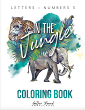 Load image into Gallery viewer, Letters and Numbers: In The Jungle Coloring Book (DIGITAL)