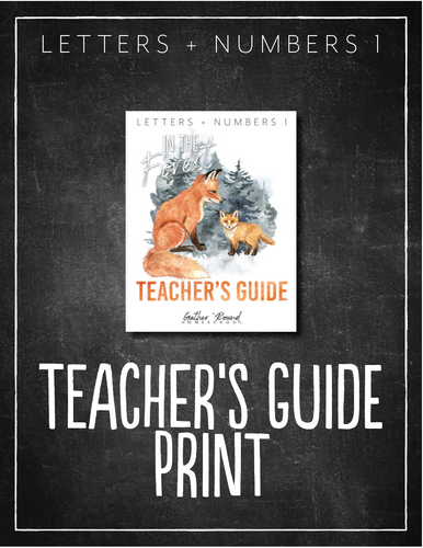 Letters + Numbers 1: In the Forest Teacher's Guide (HARD COPY)