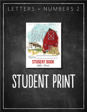 Load image into Gallery viewer, Letters and Numbers Book 2: At the Farm Student Notebook (HARD COPY)