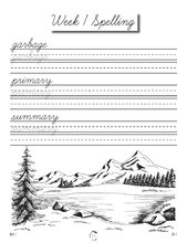 Load image into Gallery viewer, Artists Cursive Writing Notebook (HARD COPY)