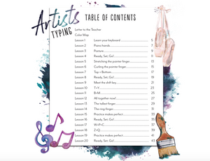 Artists Typing Book (HARD COPY)